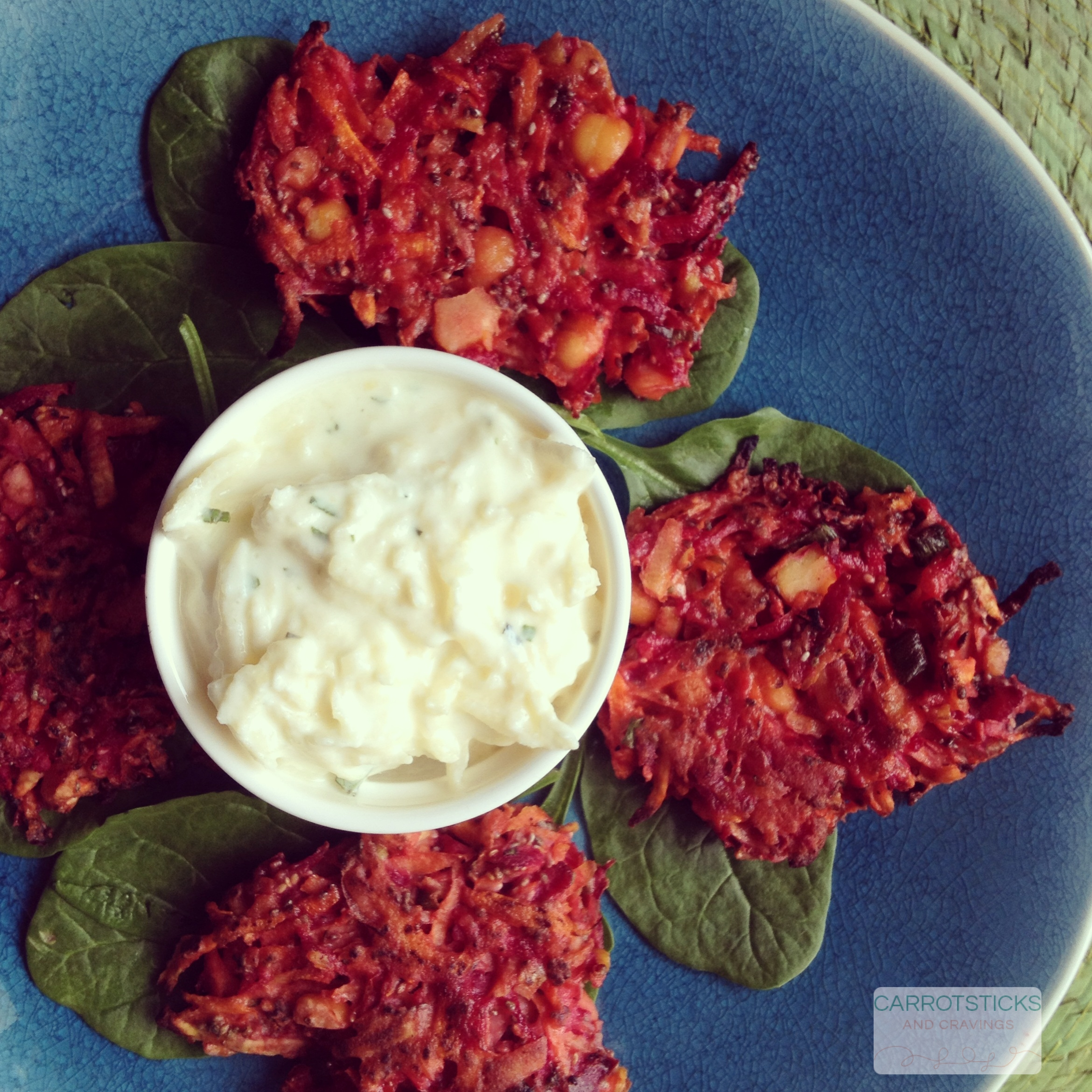Corn Cakes With Beetroot And Apple Salad