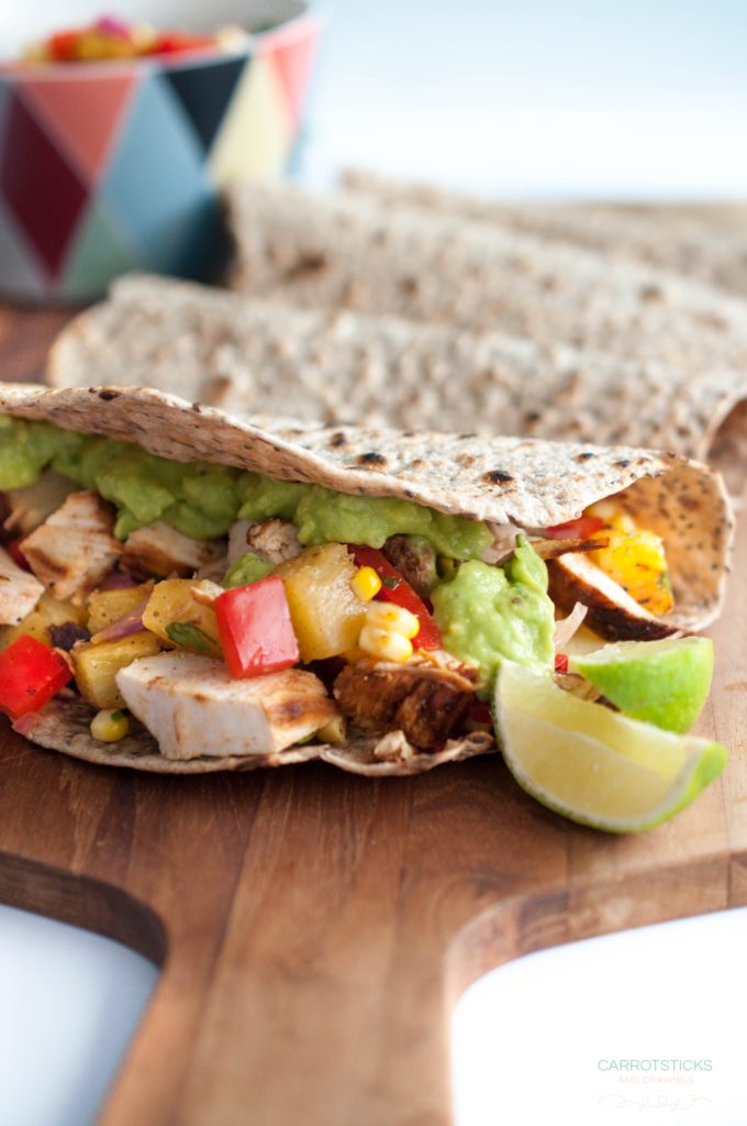 grilled lime chicken with pineapple salsa tortillas (1 of 1)